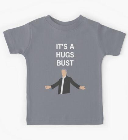 HUGS BUST (white text) Kids Tee