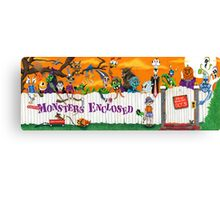 MONSTERS ENCLOSED  Canvas Print