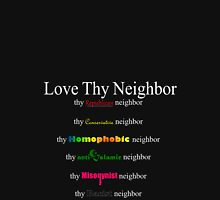 Love Thy Neighbor (dark color) Womens Fitted T-Shirt