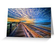 Rainbow Pier... Greeting Card