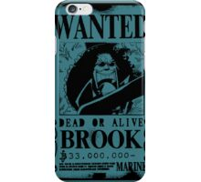 Brook Wanted Poster iPhone Case/Skin