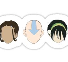 Team Avatar graphic heads Sticker