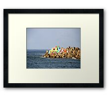 The Rainbow At The End of The Harbour Framed Print