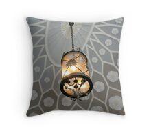 Beautiful Ornate Ceiling and Hanging Lamp, Montclair Art Museum Throw Pillow