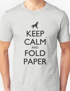 Keep Calm and Fold Paper (Unicorn) T-Shirt