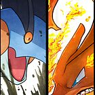 Charizard and Swampert by Jrwalker55