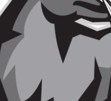 Raging Bull Attacking Charging Retro Sticker