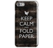 Keep Calm and Fold Paper - Chicken/Metal iPhone Case/Skin