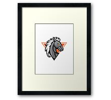 Horse Head Side Retro Framed Print