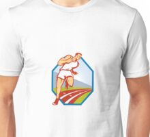Marathon Runner Running Race Track Retro Unisex T-Shirt