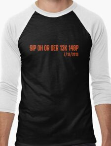 Freak No Hitter (Orange) Men's Baseball ¾ T-Shirt
