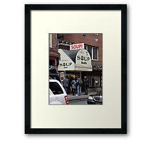 Seinfeld Soup Man NYC Framed Print
