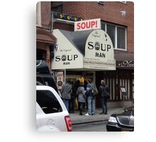 Seinfeld Soup Man NYC Canvas Print