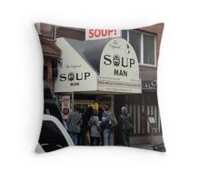 Seinfeld Soup Man NYC Throw Pillow