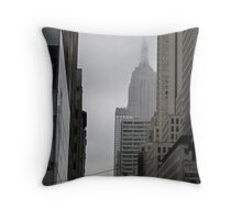 Sneaky Empire State Building NYC Throw Pillow