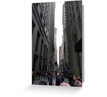 Wall Street, NYC Greeting Card