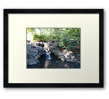 Waterfall, Central Park, NYC Framed Print