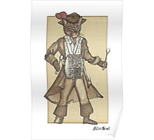 Red Feather Piarte Drummer Cat Poster