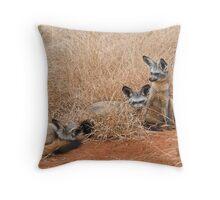 Bat eared foxes Throw Pillow