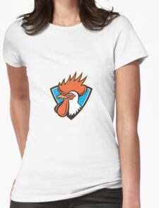 Rooster Cockerel Head Crest Womens Fitted T-Shirt