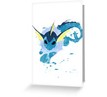 Graffiti Vaporeon Greeting Card