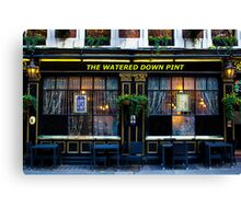 The Watered Down Pint Canvas Print