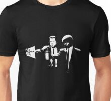 Pulp Reference - Banksy Stencil Pulp Fiction Parody Unisex T-Shirt