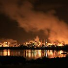 QAL Aluminium Refinery (by night) by Property & Construction Photography