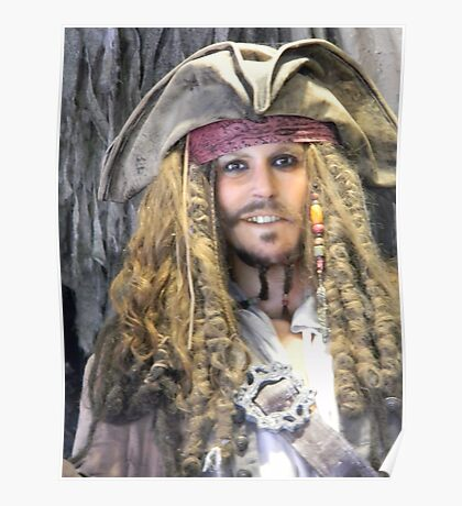 Captain Jack Sparrow Pirates Of The Caribbean Poster