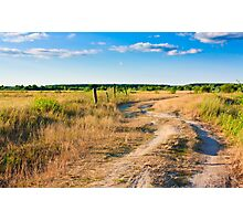 Dirty Rural Road Photographic Print