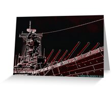 USS Wisconsin Greeting Card