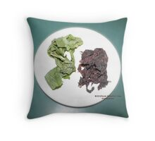 Plantain and seaweed  Throw Pillow