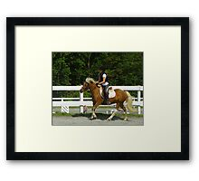 Learning to Ride Framed Print