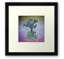 Abstract cube tree Framed Print