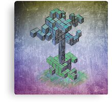 Abstract cube tree Canvas Print