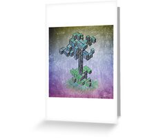 Abstract cube tree Greeting Card