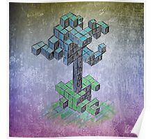 Abstract cube tree Poster