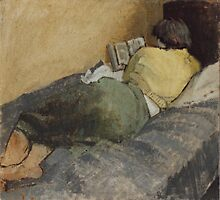 Woman Reading by Gordon Snee