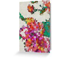 Geometric Blossoms Greeting Card