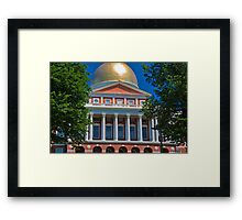USA. Massachusetts. Boston. State House. Framed Print