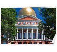 USA. Massachusetts. Boston. State House. Poster