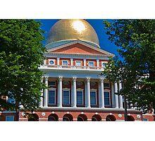 USA. Massachusetts. Boston. State House. Photographic Print