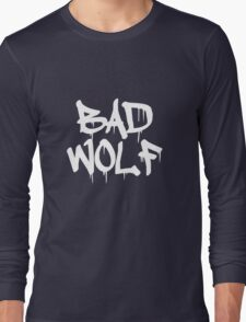 Bad Wolf #1 - White Long Sleeve T-Shirt