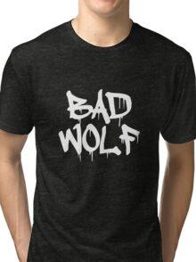 Bad Wolf #1 - White Tri-blend T-Shirt