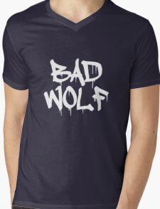 Bad Wolf #1 - White Mens V-Neck T-Shirt