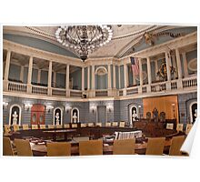 USA. Massachusetts. Boston. State House. Senate Chamber. Poster
