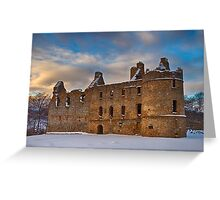BALVENIE CASTLE - WINTERS DAY Greeting Card