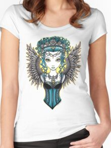 Alaura Guardian Angel Women's Fitted Scoop T-Shirt