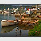 Old Boat Rebuilding, Stonington, Maine by Dave  Higgins