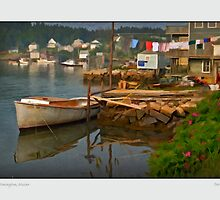 Old Boat Rebuilding, Stonington, Maine by Dave  Higgins